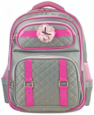Купить Рюкзак ручка для переноски BRAUBERG Рюкзак BRAUBERG для учениц начальной школы 14 л серый, ткань, пенополиуретан, Ранцы, рюкзаки и сумки