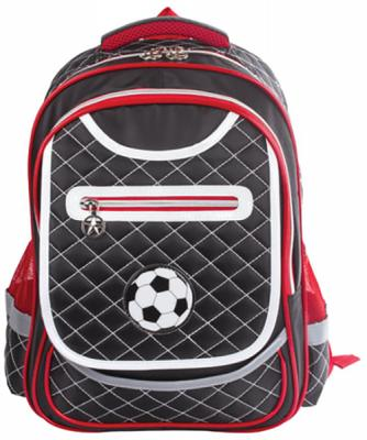 Купить Рюкзак ручка для переноски BRAUBERG Рюкзак BRAUBERG для учеников начальной школы 14 л черный красный, черный, красный, пенополиуретан, ткань, Ранцы, рюкзаки и сумки