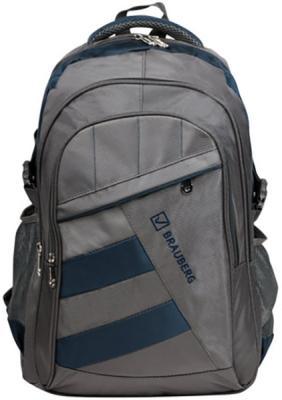 Купить Рюкзак ручка для переноски BRAUBERG Рюкзак для школы и офиса MainStream 2 35 л серый синий, серый, синий, полиэстер, Ранцы, рюкзаки и сумки