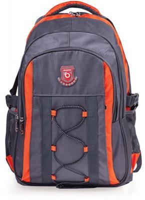 Купить Рюкзак ручка для переноски BRAUBERG Рюкзак для школы и офиса BRAUBERG SpeedWay 1 25 л серый оранжевый, серый, оранжевый, полиэстер, Ранцы, рюкзаки и сумки