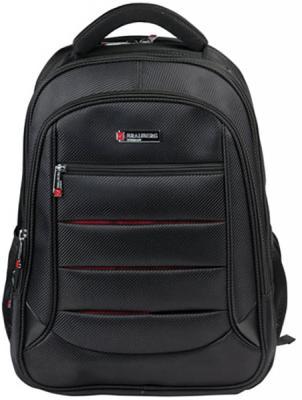 Купить Рюкзак ручка для переноски BRAUBERG Рюкзак для школы и офиса BRAUBERG Flagman 35 л черный красный, черный, красный, полиэстер, Ранцы, рюкзаки и сумки
