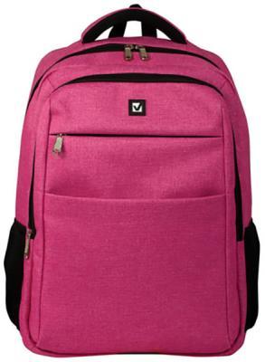 Купить Рюкзак ручка для переноски BRAUBERG Рюкзак BRAUBERG универсальный с отделением для ноутбука 32 л розовый, полиэстер, Детские рюкзачки