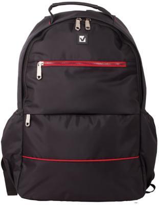 Купить Рюкзак ручка для переноски BRAUBERG Рюкзак BRAUBERG универсальный с отделением для ноутбука 27 л черный, полиэстер, Детские рюкзачки