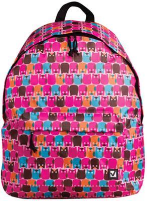 Купить Рюкзак ручка для переноски BRAUBERG Рюкзак BRAUBERG универсальный Совята 23 л розовый, полиэстер, Детские рюкзачки
