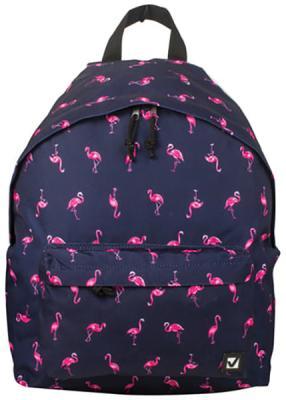 Рюкзак ручка для переноски BRAUBERG Рюкзак BRAUBERG универсальный Фламинго 20 л синий brauberg brauberg ортопедический школьный рюкзак easylock спорткар