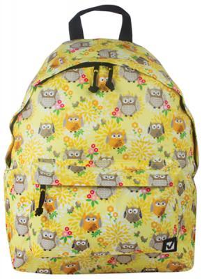 Рюкзак ручка для переноски BRAUBERG Рюкзак BRAUBERG универсальный Совушки в цветах 20 л желтый brauberg brauberg рюкзак универсальный омега розовый