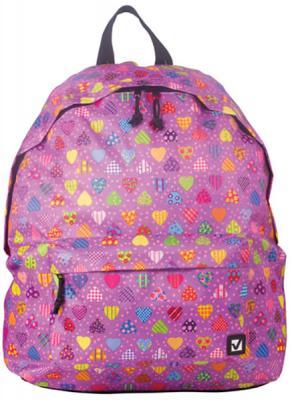 Купить Рюкзак ручка для переноски BRAUBERG Рюкзак BRAUBERG универсальный 23 л фиолетовый, полиэстер, Детские рюкзачки