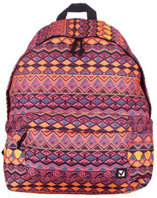 Купить Рюкзак ручка для переноски BRAUBERG Рюкзак BRAUBERG универсальный 23 л мультиколор, полиэстер, Детские рюкзачки