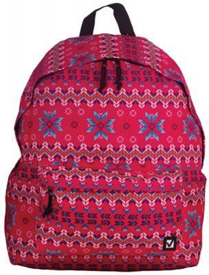 Купить Рюкзак ручка для переноски BRAUBERG Рюкзак BRAUBERG универсальный Узор 23 л красный, полиэстер, Детские рюкзачки