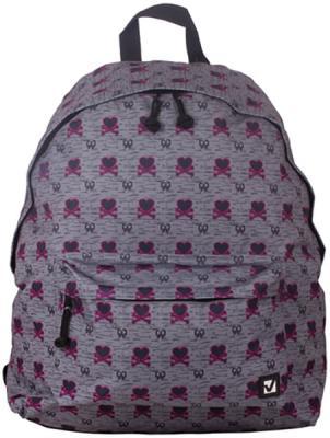 Купить Рюкзак ручка для переноски BRAUBERG Рюкзак BRAUBERG универсальный Хартз 23 л серый, полиэстер, Детские рюкзачки