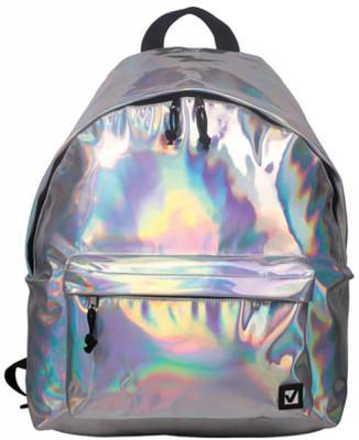 Купить Рюкзак ручка для переноски BRAUBERG Рюкзак BRAUBERG универсальный Винтаж 20 л серебристый, полиэстер, Детские рюкзачки