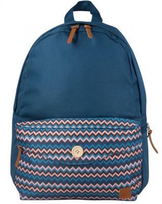 Купить Рюкзак BRAUBERG, универсальный, сити-формат, синий, карман с пуговицей, 20 литров, 40х28х12 см, 225352, рисунок, мультиколор, полиэстер, Детские рюкзачки