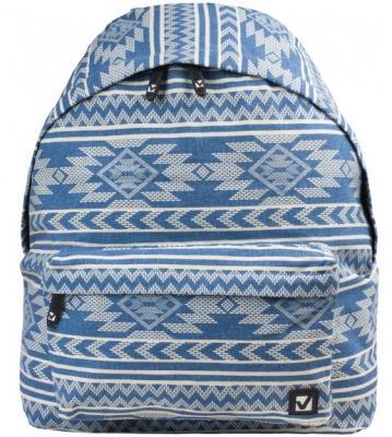 Рюкзак ручка для переноски BRAUBERG Нордик 225357 20 л синий голубой рисунок мультиколор