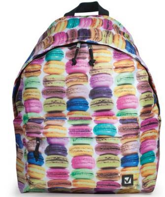 Рюкзак BRAUBERG, универсальный, сити-формат, разноцветный, Сладости, 20 литров, 41х32х14 см, 225370 рюкзак brauberg универсальный сити формат один тон черный 20 литров 41х32х14 см 225381