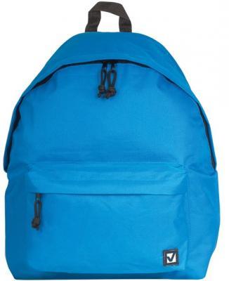 Рюкзак BRAUBERG, универсальный, сити-формат, один тон, голубой, 20 литров, 41х32х14 см, 225374 brauberg brauberg рюкзак универсальный камуфляж голубой