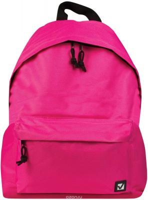 Рюкзак BRAUBERG, универсальный, сити-формат, один тон, розовый, 20 литров, 41х32х14 см, 225375 brauberg brauberg рюкзак универсальный омега розовый