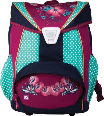 Купить Рюкзак BRAUBERG для учениц, ортопедический, евроформат, EasyLock, Горошек , 20 литров, 37х29х19 см, 226326, рисунок, фиолетовый, салатовый, полиэстер, полипропилен, Ранцы, рюкзаки и сумки