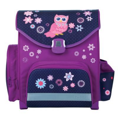Ранец светоотражающие материалы Tiger Family Совушка 15 л фиолетовый
