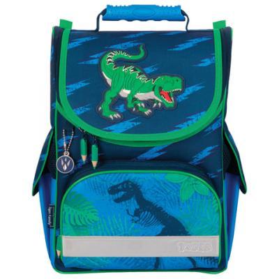Ранец светоотражающие материалы Tiger Family Dino Action 13 л синий action ранец школьный by tiger пони