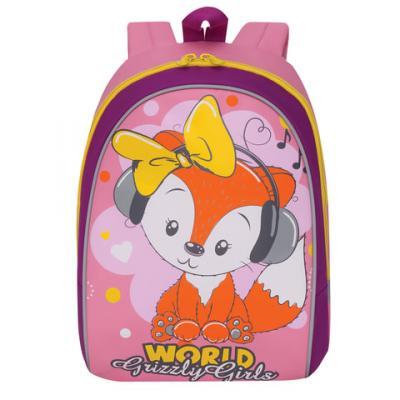 Рюкзак с усиленной спинкой GRIZZLY RS-896-2/1 12 л розовый рюкзак grizzly тузик rs 891 2 1 227228