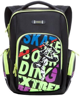 Рюкзак с анатомической спинкой GRIZZLY Скейтборд 22 л разноцветный скейтборд с какого возраста можно начинать
