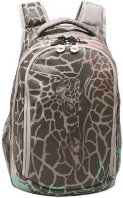 Купить Рюкзак ортопедический GRIZZLY Осколки 24 л серый, полиэстер, Ранцы, рюкзаки и сумки