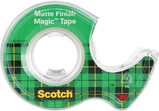 Фото - Клейкая лента 3M Scotch Magic 19мм x 7.5 м невидимая, на диспенсере, 56 мкм, 70005076974 клейкая лента 3m scotch crystal 600rus 19мм x 33 м канцелярская