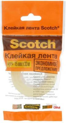 Фото - Клейкая лента 3M Scotch 500-1533 15мм x 33 м канцелярская клейкая лента 3m scotch crystal 600rus 19мм x 33 м канцелярская