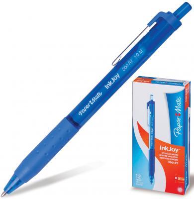 Ручка шариковая автоматическая PAPER MATE Inkjoy 300 RT, узел 1,2 мм, линия 1 мм, синяя, S0959920 шариковая ручка автоматическая paper mate replay синий 1 мм