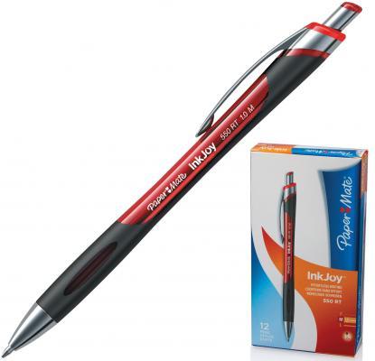 Ручка шариковая автоматическая PAPER MATE Inkjoy 550 RT, узел 1,2 мм, линия 1 мм, красная, S0977230 шариковая ручка автоматическая paper mate replay синий 1 мм