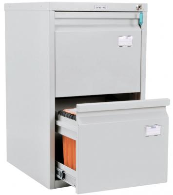 """Шкаф картотечный ПРАКТИК """"A-42"""", 685х408х485 мм, 2 ящика для 84 подвесных папок, формат папок A4 (БЕЗ ПАПОК)"""