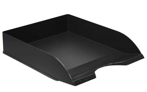 Лоток горизонтальный для бумаг СТАММ Дельта, черный, ЛТ651 лоток для бумаг sponsor вертикально горизонтальный семисекционный черный st905 7
