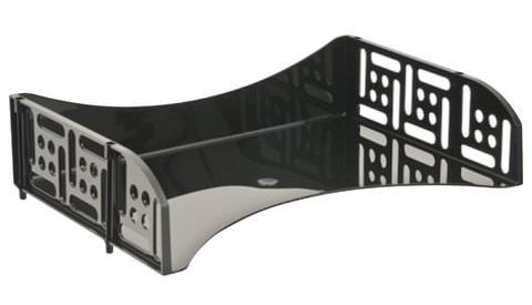 Лоток горизонтальный для бумаг СТАММ Филд, поперечный, черный, ЛТ801 лоток для бумаг sponsor вертикально горизонтальный семисекционный черный st905 7