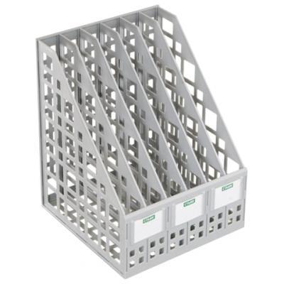 Лоток вертикальный для бумаг СТАММ, ширина 240 мм, 6 отделений, сетчатый, сборный, серый, ЛТ86 цена