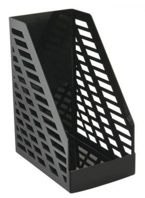 Лоток вертикальный для бумаг СТАММ XXL, ширина 160 мм, полипропилен, черный, ОФ333 черный xxl