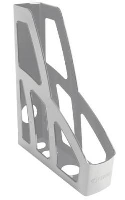Лоток вертикальный для бумаг СТАММ Лидер, ширина 75 мм, серый, ЛТ121 цена