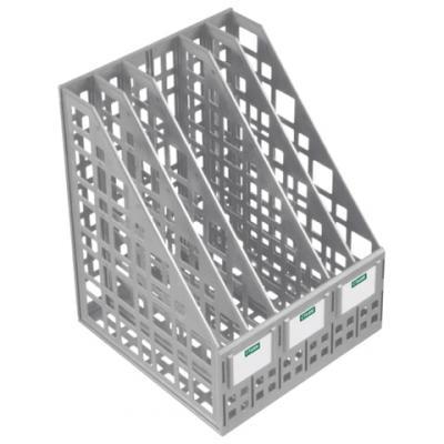 Лоток вертикальный для бумаг СТАММ, ширина 240 мм, 5 отделений, сетчатый, сборный, серый, ЛТ84 цена