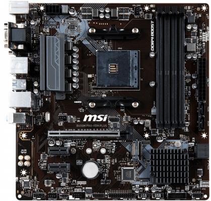 Материнская плата MSI B450M PRO-VDH PLUS Socket AM4 AMD B450 4xDDR4 1xPCI-E 16x 2xPCI-E 1x 4 mATX Retail цена