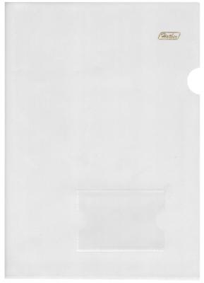 Папка-уголок с карманом для визитки, А4, прозрачная, 0,18 мм, AGкм4 00100, V246931 папка уголок hatber monster high дракулаура цвет черный розовый формат а4