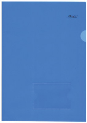 Папка-уголок с карманом для визитки, А4, синяя, 0,18 мм, AGкм4 00102, V246955 папка уголок hatber monster high дракулаура цвет черный розовый формат а4