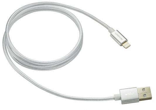 Кабель Lightning 1м Canyon CNE-CFI3PW круглый белый кабель canyon cne usbm1w microusb белый
