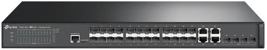 Коммутатор TP-LINK T2600G-28SQ JetStream Гигабитный управляемый коммутатор 2 уровня на 24 SFP-слота и 4 SFP+ слота коммутатор tp link t3700g 52tq jetstream 52 портовый гигабитный управляемый стекируемый коммутатор 3 уровня