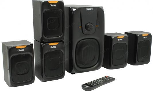 Колонки Dialog Progressive AP-505 BLACK - 5.1, 45W+5*7W RMS, Bluetooth, USB, SD, FM, RC