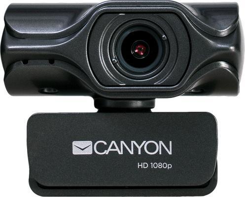 Веб-камера CANYON CNS-CWC6 3.2 МП, 2K Quad HD, USB 2.0, крепление для штатива, автофокус, микрофон с автоматическим шумоподавлением, черный