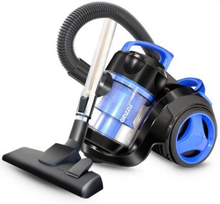 Пылесос Ginzzu VS420, 1700/275 Вт., без мешка, циклонный фильтр, чёрный/синий