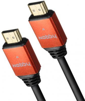 купить Кабель HDMI 2м Nobby Comfort круглый черный NBС-HC-20-01 дешево