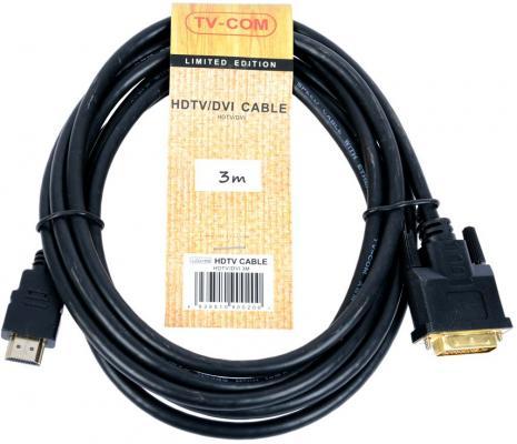 Фото - Кабель HDMI to DVI-D (19M -25M) 3м, TV-COM <LCG135E-3M> кабель tv com hdmi hdmi cg501n 15 м черный