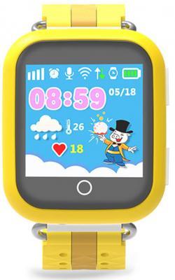 цена на Умные часы детские GiNZZU® GZ-503 yellow 1.54 Touch/Геолокация по WI-FI/GPS/LBS/Гео-зоны/Кнопка SOS/nano-SIM