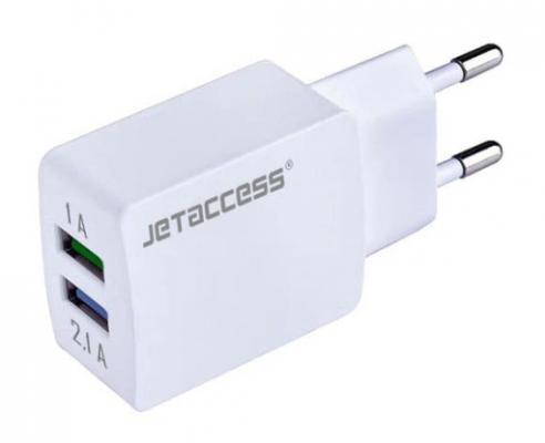 Сетевое зарядное устройство Jet.A UC-Z25 2.1A белый зарядное