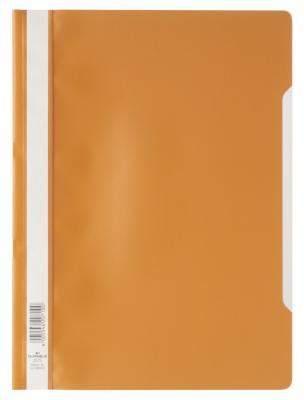 Скоросшиватель пластиковый DURABLE (Германия), оранжевый, 2573-09